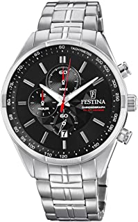 Festina F6863/4 For Men - Analog Casual Watch, Stainless Steel