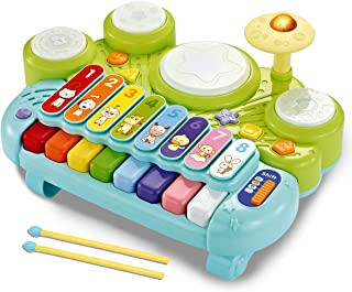 fisca 3 in 1 Musical Instruments Toys, Electronic Piano Keyb