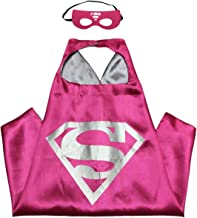 Unisex double sided Kids or adults 66x66cm mini funny supergirl from superman comic superhero costume with mask and cape