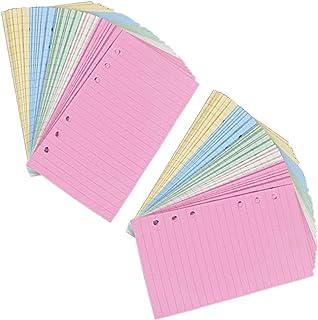21 x 14,2 cm iwobi 4 Confezioni Dots Paper,Fogli a Righe con 6 Fori 180 Fogli//360 Pagine per Diari Giornalieri Calendario Appunti Inserti Scrapbooking