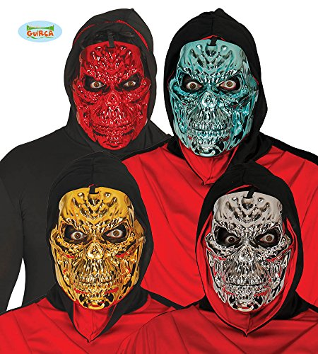 Masque de Squelette Métallisé plusieurs coloris pour Halloween
