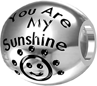 You are My Sunshine, My Only Sunshine 925 Silver Bead Fit European Brand Charms