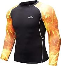 Herren Kompressions-Shirt langärmlig Funktionsshirts Fitness Baselayer Langarm Sport Longsleeve Shirt Top Bluse Slim Fit,17style