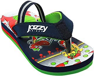 Hopscotch Baby Boys Synthetic Flip Flop in Navy Color