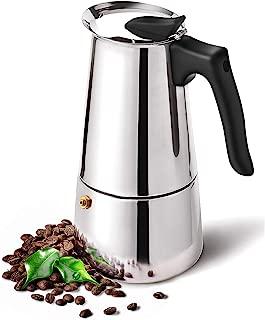DclobDop Stovetop Espresso Maker with Classic and Rich Brews Moka Pot 9 Cup,15.2 oz,Cuban Coffee Maker Stove top Espresso Shot Maker for Espresso italian coffee maker