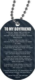 Boyfriend Girlfriend Dog Tag Necklace Chain For Boyfriend On Birthday, Aniversary Day - To My Boyfriend Dog Tag Military Necklace Jewelry