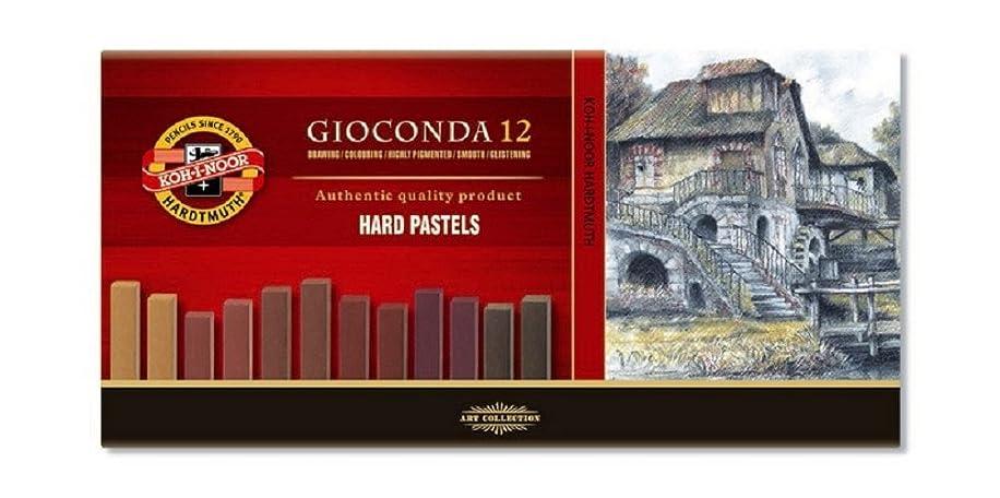 KOH-I-NOOR GIOCONDA 8122 Set of Artist's Hard Pastels - Brown