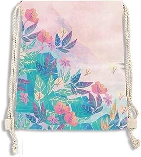 Drawstring Backpack String Bag Sackpack Cinch for Gym Shopping Sport Yoga (Cecilia Sfalsin)