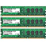 A-Tech 6GB KIT (3 x 2GB) For Asus P6 Motherboard Series P6T P6T Deluxe P6T Deluxe V2 P6T Deluxe/OC Palm P6T SE P6T6 WS Revolution P6TD Deluxe P6X58D Prem. DIMM DDR3 NON-ECC PC3-8500 1066MHz RAM Memory