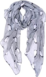 Scarf for Women Lightweight Penguin Print Scarfs Fashionable Fall Winter cozy Scarves Shawl Wrap