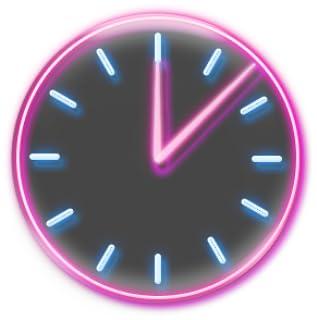 Neon Pink Clock Widget