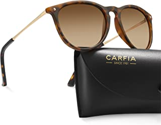 Carfia Retro Fashion Polarized Sunglasses for Women UV400 Protection with Hand-Crafted Beading Accessories