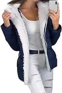 Howely Women's Thickened Zip-Front Lounge Winter Fleece Jacket Coat with Hood