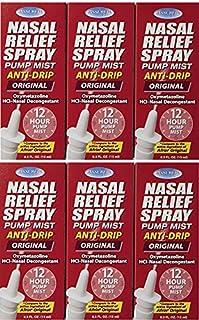 Assured Nasal Relief Spray, 12 Hour Pump Mist Oxymetazoline HCL, 0.5 fl. Oz (6 Pack)