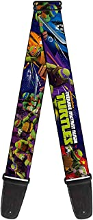 Nickelodeon Guitar Strap - TMNT New Series Logo2/Group Action Pose Multi Color (GS-WNT002)