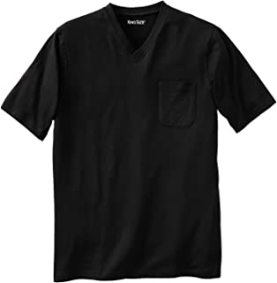 KingSize Men's Big & Tall Lightweight V-Neck Pocket T-Shirt