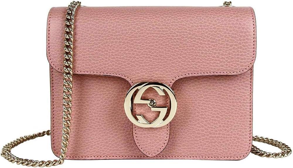 Gucci, borsa a tracolla da donna,  in morbida pelle rosa 510304 5806