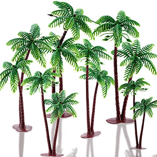 16 Pieces Green Palm Tree Cupcake Topper with Coconuts Cake Topper for Cake Decorations?5.5 inch-16 Pieces?