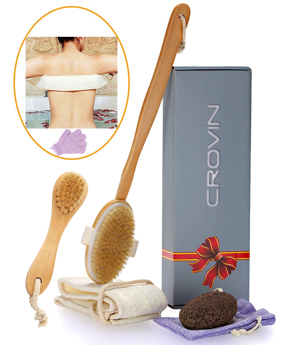 Dry Brushing Body Brush - Natural Inventory cleanup Virginia Beach Mall selling sale Set Bristle Boar for