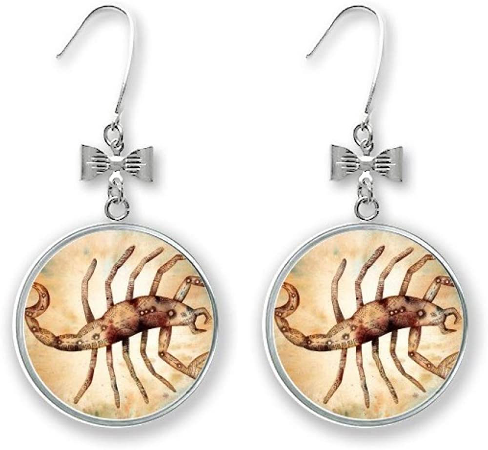 November October Scorpio Translated Constellation In stock Earrings Drop Bow Zodiac
