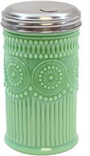 "Tablecraft HJ810 Sugar Shaker with Stainless Steel Top, 3.0625"" x 5.75"", Green"