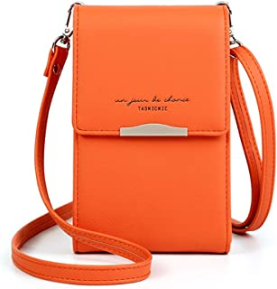 Katech Tasche Damen Klein, Citytasche Schultertasche Multifunktionale Handytasche mit Vielen Fächern und Kartenfächer, Cro...
