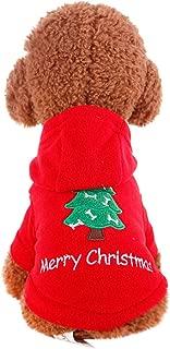 TOPBIGGER 2020 New Pet Dog Coat Pet Dog Christmas Hoodie Fleece Vest Hoodie Dog Pull Over Hooded Fleece Jacket Santa Sweatshirt Extra Warm Dog Hoodie in Winter Pet Dog Hooded