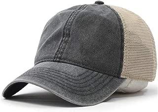 Vintage Washed Cotton Soft Mesh Adjustable Baseball Cap