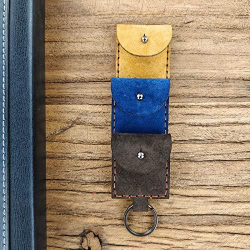 Blue Stones 10PCS Guitar Picks Case Box Purse Genuine Leather Key Chain Guitar Picks Holder Plectrums Bag Case for All Car auto Accessories