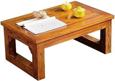 Mesas de café Mesita con Ventana de Madera Maciza Mesa de te ...