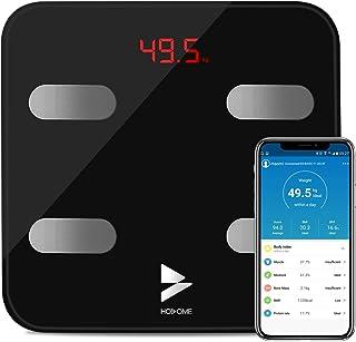 Bilancia Grasso Corporeo Bluetooth, Yuanguo Hosome Smart Digitale Corpo Composizione Bilancia Pesapersone per BMI, BFR, Mu...
