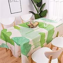 zfdvho Plant Pattern Cotton Linen Waterproof Tablecloth Decoration Home Decoration Tablecloth Tablecloth Lotus Leaf 140x240cm