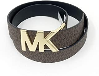 Michael Kors Womens Mk Logo Reversible Belt Brown/Black
