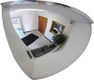 Se-Kure Domes & Mirrors ONV-90-18 Quarter Dome Mirror, 18-Inch Diameter