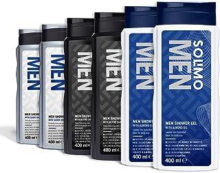 Amazon-merk: Solimo douchegel voor mannen met amandelolie Gemengde doos.