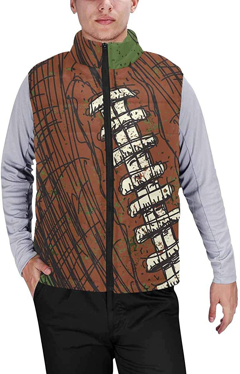 InterestPrint Men's Soft Stand Collar Jacket for Fishing Hiking Cycling Unicorns and Caticorns