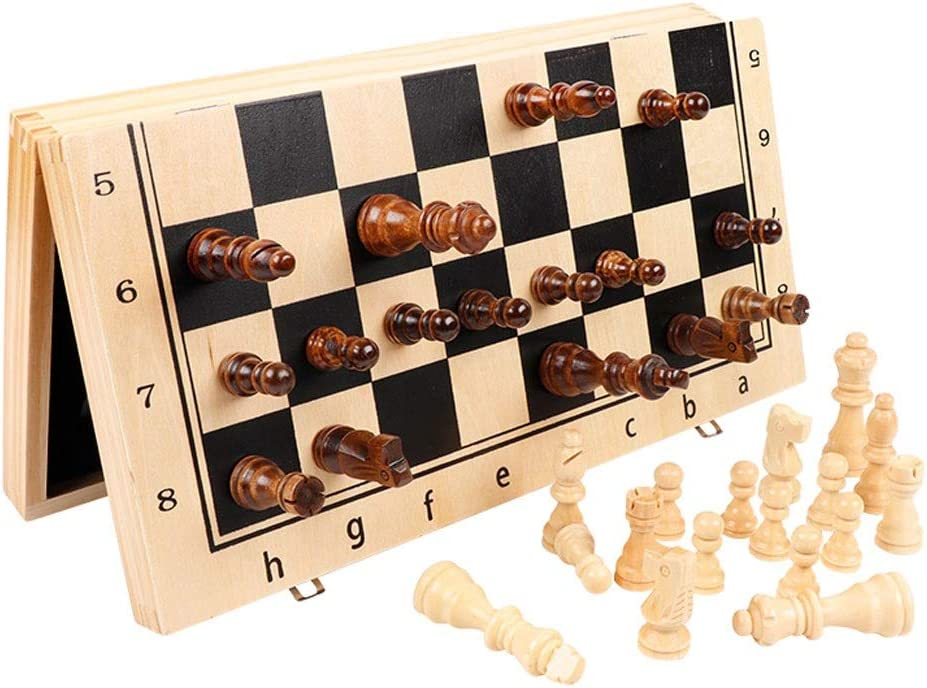 LOMJK Chess Set Magnetic Game with In a popularity mart Interior So Storage