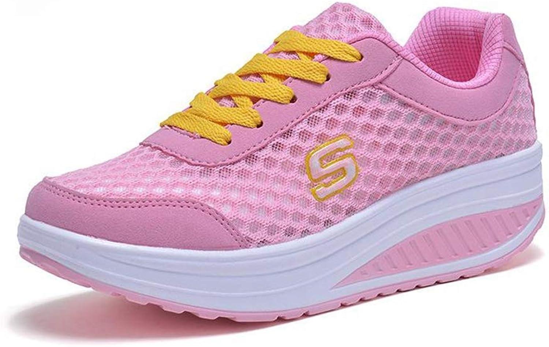 Women Height Increasing Casual Sport shoes Female Walking Swing Wedges Breathable Mesh Sneakers