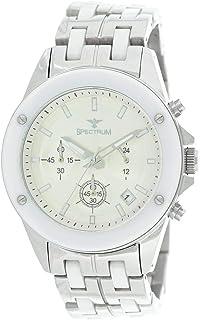 Spectrum Men's Silver Strap Dress Watch