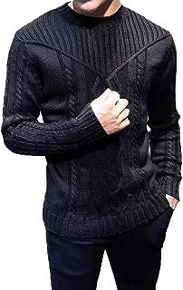 iLOOSKR Winter Mens Warm Pullover Knitted Raglan Choker Sweater Blouse Top