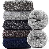 Jeasona Womens Wool Socks Thick Warm Winter Vintage Knit Thermal Gifts (Multicolored Dark)