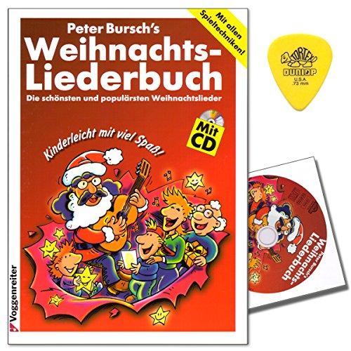 Peter Bursch's Weihnachtsliederbuch mit CD, Plek - die schönsten und populärsten Weihnachtslieder mit allen Spieltechniken - leichte Anschlag- und Zupftechnik - 9783802403033