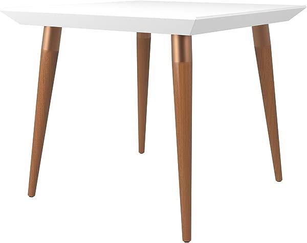 Manhattan Comfort 107251 Utopia Mid Century Square Dining Table White