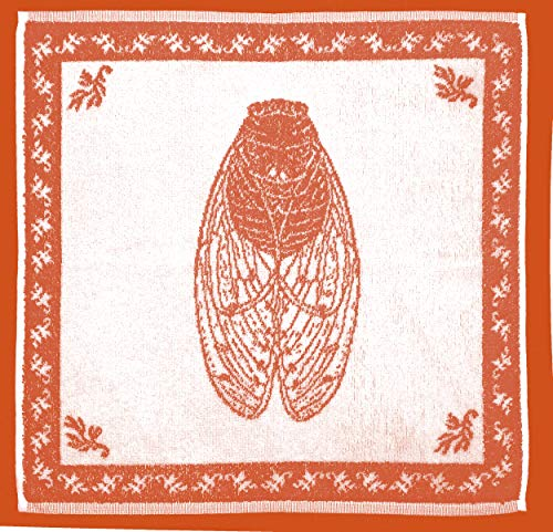 Coucke - Les Provençaux - Torchon Imprimé Cigale Sienne Coton 50 x 50 cm
