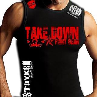 c25a26692b49b Take Down Fight Gear Skulls Mma Customs Muscle Sleeveless Tank Shirt