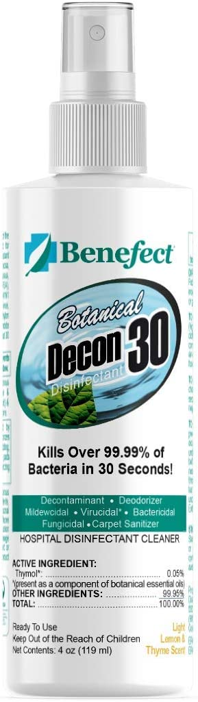 BENEFECT Decon Al sold Oakland Mall out. 30 All-Natural Multipurpos Spray Disinfectant and
