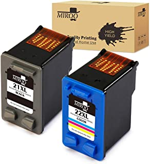 MIROO Compatible Ink Cartridge Replacement for Hp 21 22 XL,Work for HP C9351AN C9352AN DESKJET 3910 3915 3918 3920 3930 3938 3210 D1311 D1320 D1330 D1341 D1360 Printer