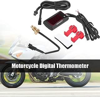 Motorcycle Thermometer HD Digital Water Tmeperature Alarm Meter Display Water Temperature Meter Gauge - Red Light