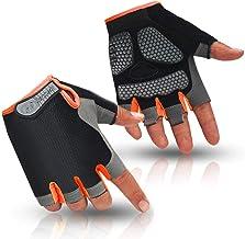 HuwaiH Cycling Gloves Men's/Women's Mountain Bike Gloves Half Finger Biking Gloves Anti Slip Shock Absorbing Gel Pad Breat...