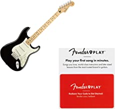 Fender Player Stratocaster Maple Fretboard Black Electric Guitar w/Prepaid Fend